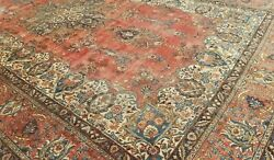 11and0396x18and0394 Antique C1920 Hand-knotted Kurdish Sultan-abd Tribal Muted Wool Rug