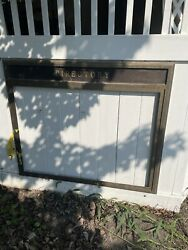 Vintage Brass Directory Plate Plaque Sign Steampunk Industrial Courthouse