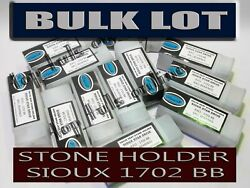 10x Sioux 1702 Bb Style Stone Holder Equipped High Speed Bearings Plastic Case