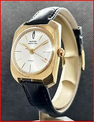 Ussr Soviet Wostok 2809 Precision Class 22j 34x41mm Gold Plated Menand039s Watch