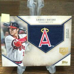 Extremely Rare Shohei Otani Big Patch Good Part With Serial Number Super Val