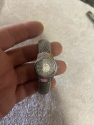 Ecclissi Sterling Square Watch With Mesh Bracelet Total Weight 52 G New Batt