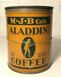 Vintage Mjb Aladdin Coffee Can Obscure
