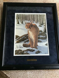 Joe Paternoand039s Signature On Nittany Lion Print 1992 Commissioned By Ducks Unlimit