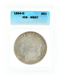 1884-o Morgan Dollar Icg Ms67 1 New Orleans Minted Silver Coin