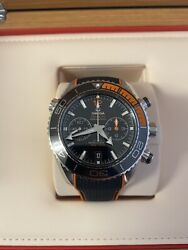 Omega Planet Ocean Co-axial Master Chronometer Chronograph Menand039s Black Watch...