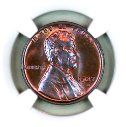 1927-d Ms64 Rb Ngc Lincoln Wheat Penny Superb Registry Quality Collection