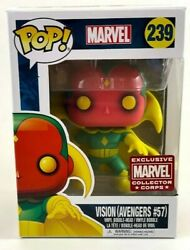 Funko Pop Marvel Collector Corps Exclusive - Vision Avengers 57 239 - Nib