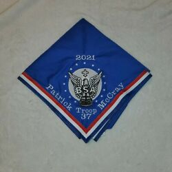 Personalized Eagle Scout Neckerchief With Scouts Name, Troop, And Bor Date