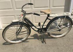Antique Bicycle Elgin Blue And White Original Project Bike Very Cool