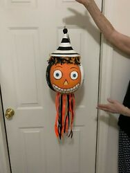 Glitterville Halloween Three Faced Hanging Large Decoration Ornament