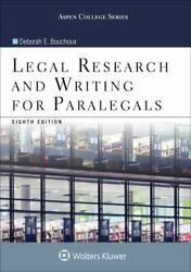 Legal Research and Writing for Paralegals Aspen Paralegal Series