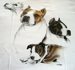 American Staffordshire Terrier T shirt quot; White quot; 3XL 54 56
