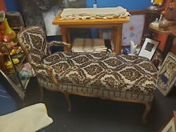 Antique French Louis Xv Style Sette Fainting Chair