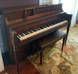 Vintage Yamaha B1806812 Studio Console Piano Walnut, With Bench, Practice Pedal