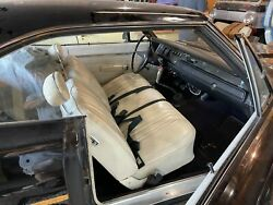 1970 Plymouth Road Runner Complete Bench Seat Tracks Headrests Use As Is B-body