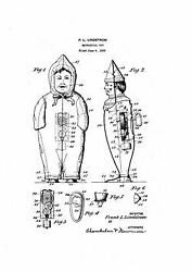 Usa Patent Lindstrom Johnny Wind Up Toy 20's Art Sheet