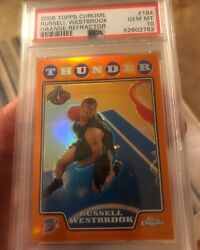 2008-09 Topps Chrome Russell Westbrook Rookie Orange Refractor /499 Rc Psa 10