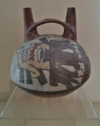 Archaeology Vase Decor Painted Culture Nazca South Of Peru 100 In 700 By Jc