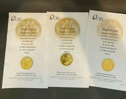 Angel Of God Medallions Coins Tokens Catholic Relief Services Lot Of 3