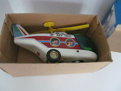 vtg battery operated toy sky taxi helicopter 1970s working