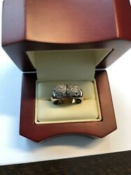14kt Two-tone Rose And White Gold I Love You Diamonds Ring Size 6.5 Brand New