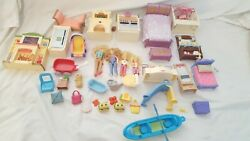Fisher Price Loving Family Dollhouse Furniture People Lot