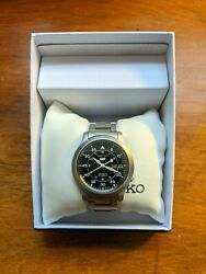 Seiko 5 Automatic 21 Jewels Black Dial Stainless Steel Strap Menand039s Field Watch