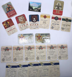 Lot Of 1950s Cub Scout And Boy Scout Cards Rank Merit Badges Etc. Levittown Pa