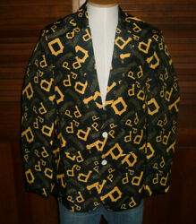 Rare Mlb Pittsburgh Pirates All Over Print Jacket Suit Coat Sportcoat Sz 44 Nwt