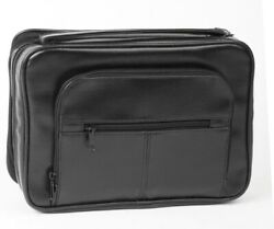 Bible Cover-deluxe Organizer W/study Kit-x Large-black