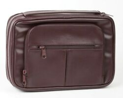 Bible Cover-deluxe Organizer W/study Kit-x Large-burgundy