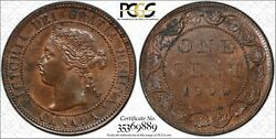 1900 Canada Large Cent Pcgs Ms-63 Bn 1c