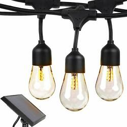 Brightech Ambience Pro Solar - 27 Ft Edison Bulb Outdoor String Lights - Hang...