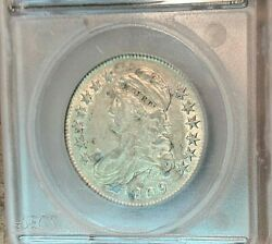 1809 Plain Edge Capped Bust Silver Half Dollar Au About Uncirculated