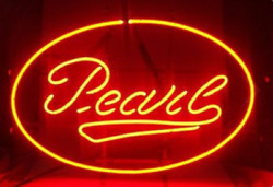 New Pearl Beer Oval Neon Light Sign 17x14 Lamp Bar Artwork Real Glass