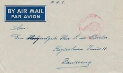 Field Post Bali Nach Bandoeng - Airmail With Elephant In Stamp