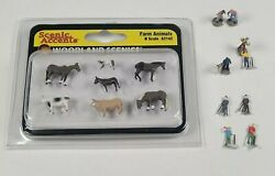 Woodland Scenics Scenic Accents N Scale Farm Animals New + Loose Worker People