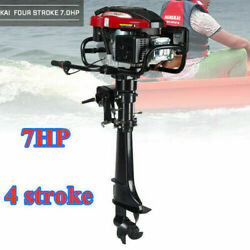 Hangkai 4 Stroke 7hp Outboard Motor Sailboats Engine W/air Cooled Sys Long Shaft