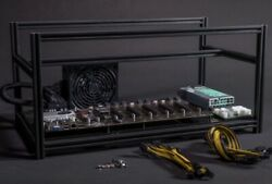 8 Gpu Mining Rig Frame Open Air Plug And Play Mining Case Kit - Gpu Not Included