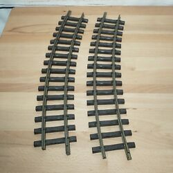 Lot Of 2 Lgb 1600 R=1175 Brass Curved Track G-scale Trains