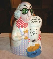 Vintage Hallmark Maxine And Floyd Cookie Jar One At A Time Grabby 12 Tall 2003