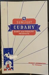 Vintage Sunlight Dairy And Poultry Products Cudahy Product Info For Salesmen Vg
