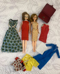 Barbie Clones/ Tressy Dolls W/outfits And Accesssories-1 Key Suitcase Japan