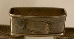 Antique Webster Arts And Crafts Sterling Silver Napkin Ring Betty Name Engraving