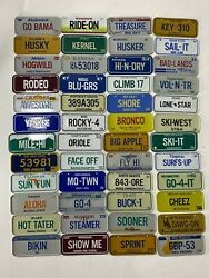 Vintage 1984 Post Cereal Mini Bicycle License Plate Lot Of 48 Near Complete Set