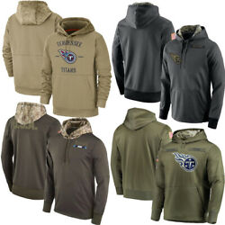 2020 Menand039s Tennessee Titans Salute Service Sideline Therma Pullover Hoodie