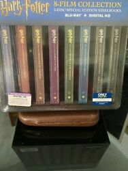 Harry Potter 8 Steelbooks With Collectible Steel Case Brand New [mint And Sealed]