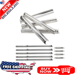 Stainless Steel Heat Plates Burners Carryover Tube For Charbroil Performance Bbq