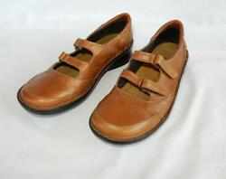 Naot Copper/bronze Leather Double Strap Mary Jane Comfort Shoes Sz 40